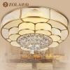 佐拉欧式吸顶灯全铜灯led调光卧室餐厅灯具花朵书房灯饰9532--9532-450*250mm