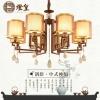 世源现代新中式吊灯客厅餐厅灯具水晶仿古铁艺茶楼餐厅灯饰6002
