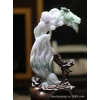 冰紫罗兰含苞欲放摆件翡翠玉器珠宝