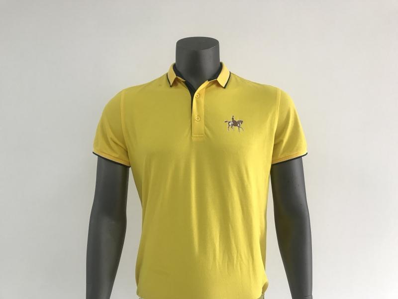 男装 时尚POLO  纯棉POLO衫(短袖,黄色)