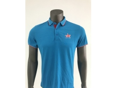 男装 时尚POLO  纯棉POLO衫(短袖,蓝色)
