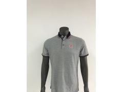 男装 时尚POLO  纯棉POLO衫(短袖,灰色)